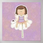 Cute Little Flower Fairy Girl Posters