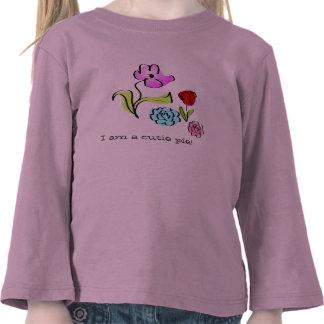 Cute Little Flowers I am a cutie pie! Kids Shirt