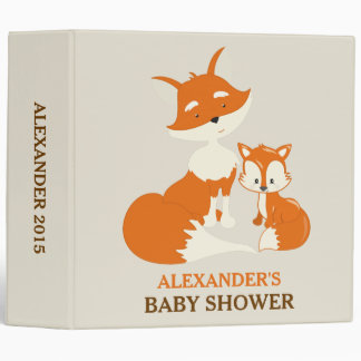 Cute Little Fox and Mom Baby Photo Album Binder