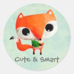 Cute Little Fox Classic Round Sticker