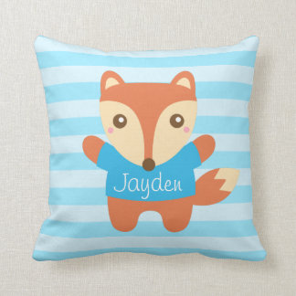 Cute Little Fox for Kids Room Throw Pillow