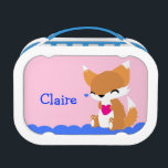 """Cute Little Fox Lunchbox<br><div class=""""desc"""">A cute fox is sure to make you or someone you love smile.</div>"""