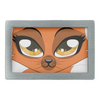 Cute little fox rectangular belt buckle