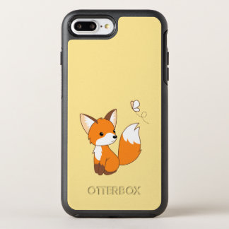 Cute Little Fox Watching Butterfly OtterBox Symmetry iPhone 7 Plus Case