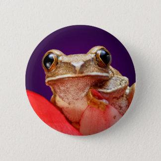 Cute Little Frog Buttons Purple