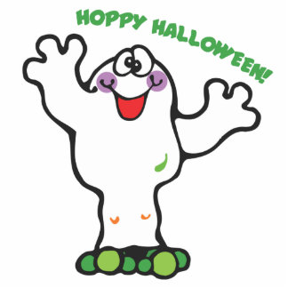 cute little frog ghost photo cutouts
