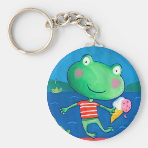 cute little frog key chains