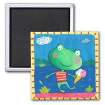 cute little frog magnet