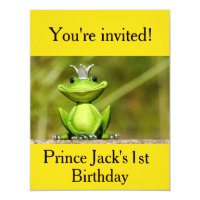Prince 1st birthday invitations announcements zazzle cute little frog prince birthday invitations filmwisefo Choice Image