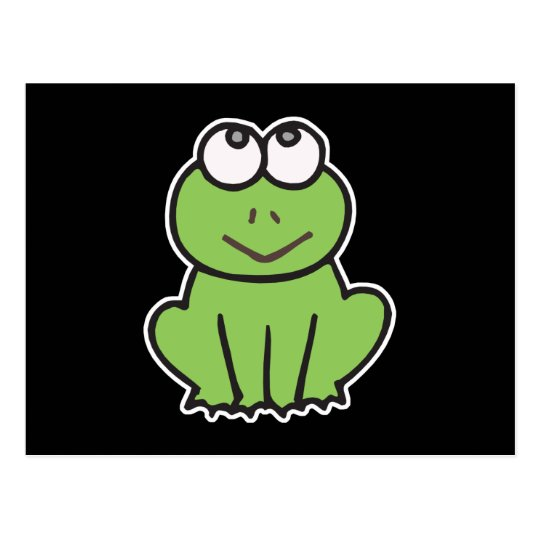 cute little froggy frog postcard