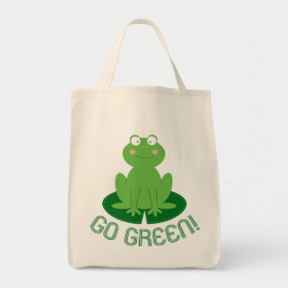 Cute Little Froggy Go Green Tote Bag