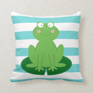 Cute Little Froggy Throw Pillow