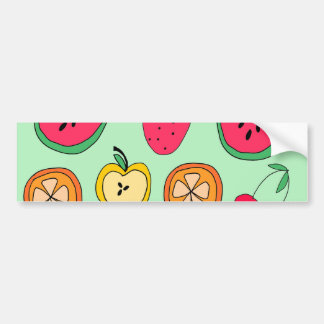 Cute Little Fruit Salad Bumper Stickers