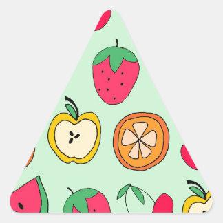 Cute Little Fruit Salad Triangle Sticker