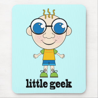 Cute Little Geek Mouse Pad
