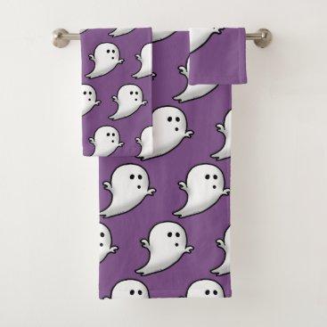 Halloween Themed cute little ghost bath towel set