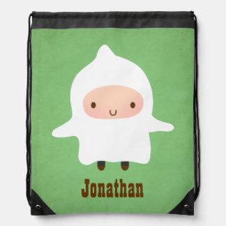 Cute Little Ghost Boy Not So Scary Halloween Cinch Bags