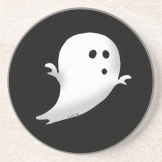 Cute little ghost drink coaster