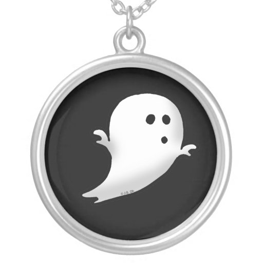 Cute little ghost personalized necklace