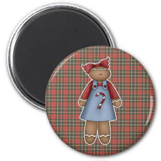 cute little ginger girl 2 inch round magnet