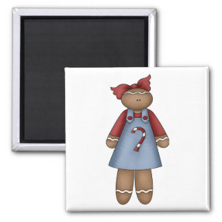 cute little ginger girl 2 inch square magnet