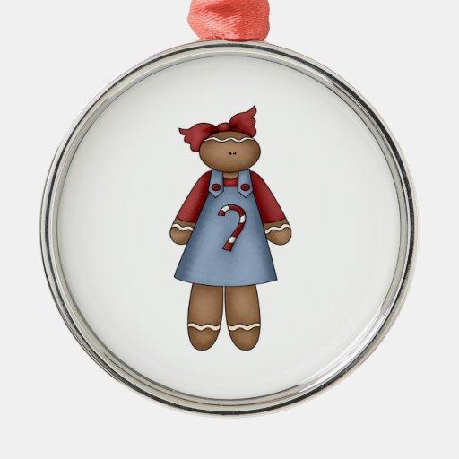 cute little ginger girl christmas tree ornament