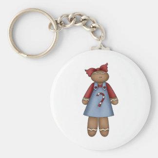 cute little ginger girl basic round button keychain