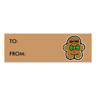 cute little gingerbread man gift tags Double-Sided mini business cards (Pack of 20)