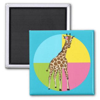 Cute Little Giraffe 2 Inch Square Magnet