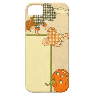 Cute Little Girl Baby Jack O Lantern Pumpkin iPhone SE/5/5s Case