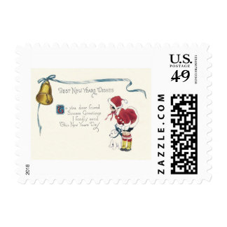 Cute Little Girl Dog Bell Postage