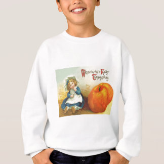 Cute Little Girl Field Pumpkin Sweatshirt