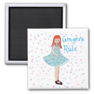 """Cute Little Girl """"Gingers Rule"""" Magnet Fridge Magnets"""