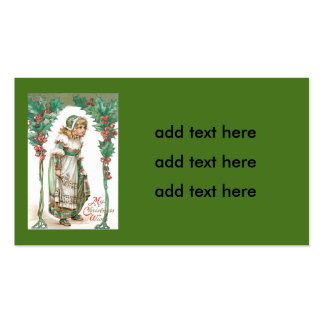 Cute Little Girl Holly Double-Sided Standard Business Cards (Pack Of 100)