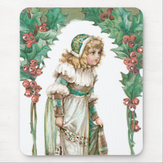 Cute Little Girl Holly Mouse Pad
