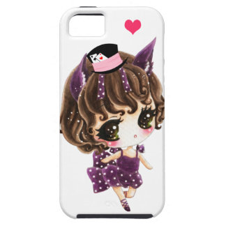 Cute little girl in purple polka dots dress iPhone 5 covers