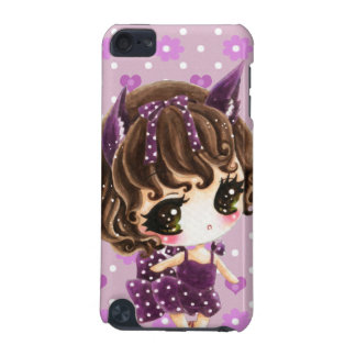 Cute little girl in purple polka dots dress iPod touch (5th generation) cover