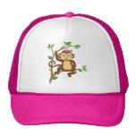 Cute Little Girl Monkey Trucker Hats