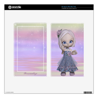 Cute Little Girl Personalized Kindle Skin