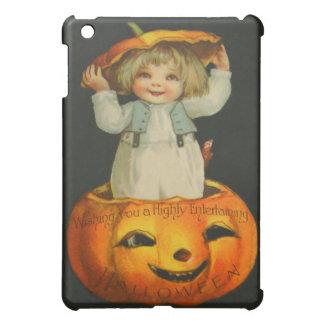 Cute Little Girl Smiling Jack O' Lantern Pumpkin Cover For The iPad Mini