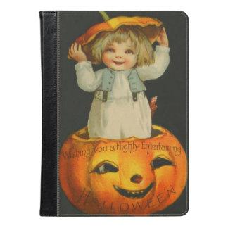 Cute Little Girl Smiling Jack O' Lantern Pumpkin iPad Air Case