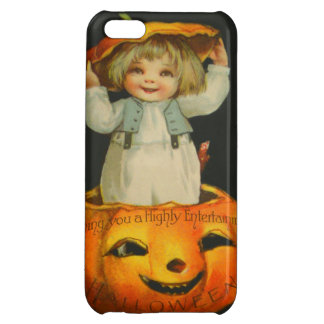 Cute Little Girl Smiling Jack O' Lantern Pumpkin iPhone 5C Cover