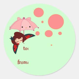 cute little girl sticker