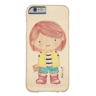 Cute Little Girl with Her Teddy Barely There iPhone 6 Case