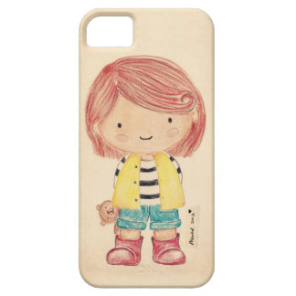 Cute Little Girl with Her Teddy iPhone 5 Case