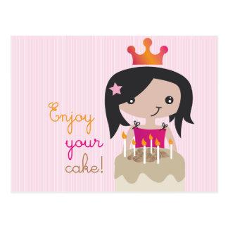 Cute little girls birthday card postcard