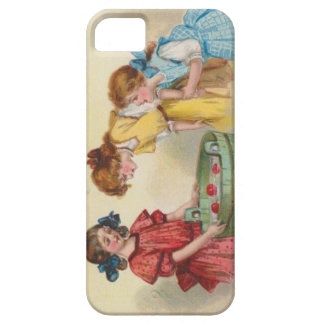Cute Little Girls Bobbing For Apples Case For iPhone 5/5S