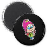 cute little gnome fridge magnets