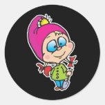cute little gnome round sticker