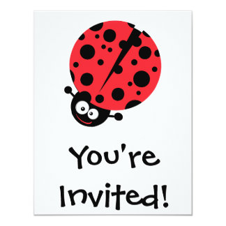 cute little goofy ladybug with lots of spots card